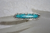 "**MBATQ #1-1154  ""Artist Signed Blue Turquoise Ring"""