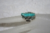 "**MBATQ #1-1158  ""Artist Signed Fancy Carved Blue Turquoise Lizzard Ring"""