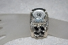 "**MBATQ #1-1181  ""Artist Signed Black Onyx Sterling Cuff Watch"""