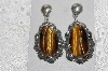 "+MBATQ #1-1272  ""Fancy Native American Made Tiger Eye Earrings"""