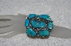 "**MBATQ #2-047  ""Beautiful 7 Stone Blue Turquoise Cuff Bracelet"""