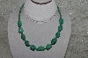 "**MBATQ #2-081  ""Fancy Green Turquoise Bead Necklace"""