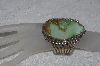 "**MBATQ #2-085  ""Fancy Large Green Turquoise Cuff Bracelet"""