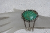 "**MBATQ #2-097  ""Beautiful Green Turquoise Cuff  Bracelet"""