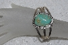 "**MBATQ #2-102  ""Artist Signed Green Turquoise Cuff Bracelet"""