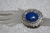 "**MBATQ #2-114  ""Large Fancy Artist Signed Blue Lapis Cuff Bracelet"""