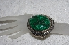 "**MBATQ #2-146  ""Large Fancy Artist Signed Malachite Cuff Bracelet"""