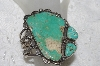 "**MBATQ #2-167  ""Fancy Artist Signed Green Turquoise Cuff Bracelet"""