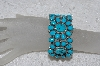 "**MBATQ #3-023  ""Artist Signed Blue Turquoise Cuff Bracelet"""