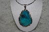 "**MBATQ #3-007 ""Artist Signed Blue Turquoise Pendant"""
