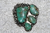 "**MBATQ #3-135  ""Fancy Green Turquoise Pendant"""