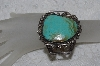 "**MBATQ #3-205  ""Fancy Blue/ Green Turquoise Cuff Bracelet"""