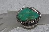 "**MBATQ #3-193  ""Fancy Artist Signed Green Turquoise Cuff Bracelet"""