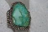 "**MBATQ #3-183  ""Fancy Large Green Turquoise Cuff Bracelet"""