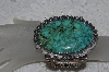 "**MBATQ #3-176  ""Large Artist Signed Fancy Green Turquoise Cuff Bracelet"""