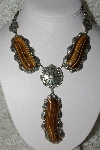 "**MBATQ 33-157  ""Beautiful Artist Signed Tiger Eye Necklace"""