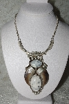"**MBATQ 33-154  ""Beautiful Artist Signed Gemstone Bear Claw Necklace"""