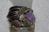 "**MBATQ #3-223  ""Large Artist Signed Bear Claw & Sugalite Cuff Bracelet"""