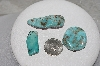 "MBATQ #3-330  ""Lot Of 3 Blue Turquoise Stones"""