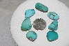 "MBATQ #3-327  ""Lot Of 7 Blue Turquoise Stones"""
