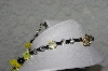 "MBAHB #27-022  ""One Of A Kind Yellow, Black & Clear Glass Bee Necklace & Earring Set"""