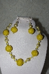 "+MBAHB #27-051  ""One Of A Kind Yellow Bead Necklace & Earring Set"""