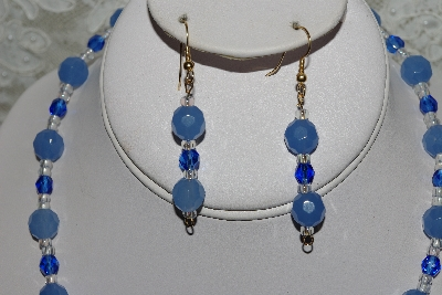 "MBAHB #27-172  ""One Of A Kind Blue Bead Lapis Necklace & Earring Set"""