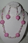 "+MBAHB #003-302  ""One Of A Kind Pin Bead Necklace & Earring Set"""