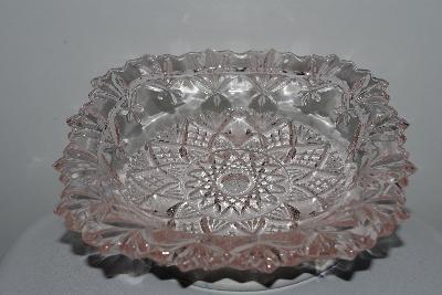 "**MBAHB #003-077  ""Older Fancy Light Pink Glass Candy Dish"""
