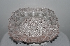 "+MBAHB #003-077  ""Older Fancy Light Pink Glass Candy Dish"""