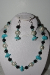"MBAHB #009-002  ""One Of A Kind Gemstone Bead Necklace & Earring Set"""