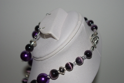 "MBAHB #013-210  ""One Of A Kind Purple Bead Necklace & Earring Set"""