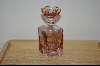 "**MBA #8260  ""Lavender Italian Made Crystal Perfume Bottle"