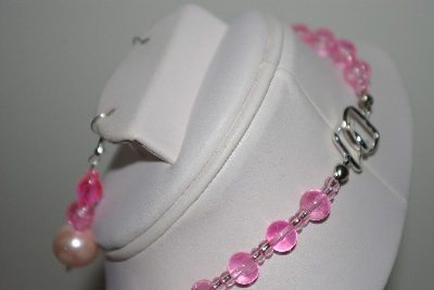 "MBAHB #013-125  ""One Of A Kind Pink Bead Necklace & Earring Set"""