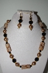 "MBAHB #013-012  ""One Of A Kind Lampworked Glass Bead Necklace & Earring Set"""