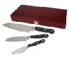 "**MBAMG #-24-242  ""Set Of 3 Cook's Essentials Santoku Knives With Wooden Box"""