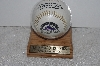 "**MBAMG #003- 138   ""1993 Colorado Rockies Inaugural Year Foto Baseball In Display Case"""