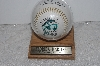"**MBAMG #003-130  ""1993 Florida Marlins Inaugurala Fotoball With Display Case"""