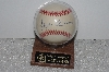 "**MBAMG #003-110  ""Hank Arron 755 Career Home Runs Autographed Baseball With Display Case"""