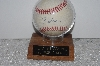 "**MBAMG #003-079  ""Autographed 1995 World Series Tom Glavin Baseball With Display Case"""