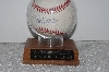 "**MBAMG #003-096  ""1995 World Series Mark Wohlers Autographed Baseball With Display Case"""