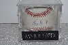 "**MBAMG #003-119  ""1990's Javier Lopez Autographed Baseball With Storage Cube"""