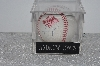 "**MBAMG #003-107  ""1996 World Series Andruw Jones Autographed Basball In Display Cube"""