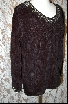 Stitches In Time Black Embelished Chenille Sweater