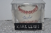 "**MBAMG #003-093  ""1990's Rawlings ""Mark Lemke"" Autographed Baseball In Storage Cube"""