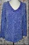 Stitches In Time Lavender Embelished Chenille Sweater