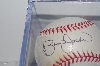 "**MBAMG #018-030  ""1990's Brian Jordan Autographed Baseball In Cube"""