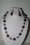 "MBAMG #018-132  ""One Of A Kind Purple & Pink Bead Necklace & Earring Set"""