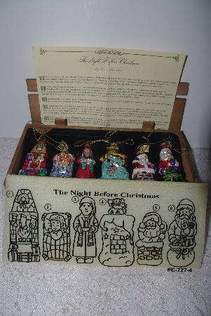 "+MBAMG #019-109   ""Thomas Pacconi Set Of 6 Blown Glass Christmas Story Ornaments"""