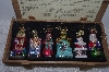 "**MBAMG #019-109   ""Thomas Pacconi Set Of 6 Blown Glass Christmas Story Ornaments"""